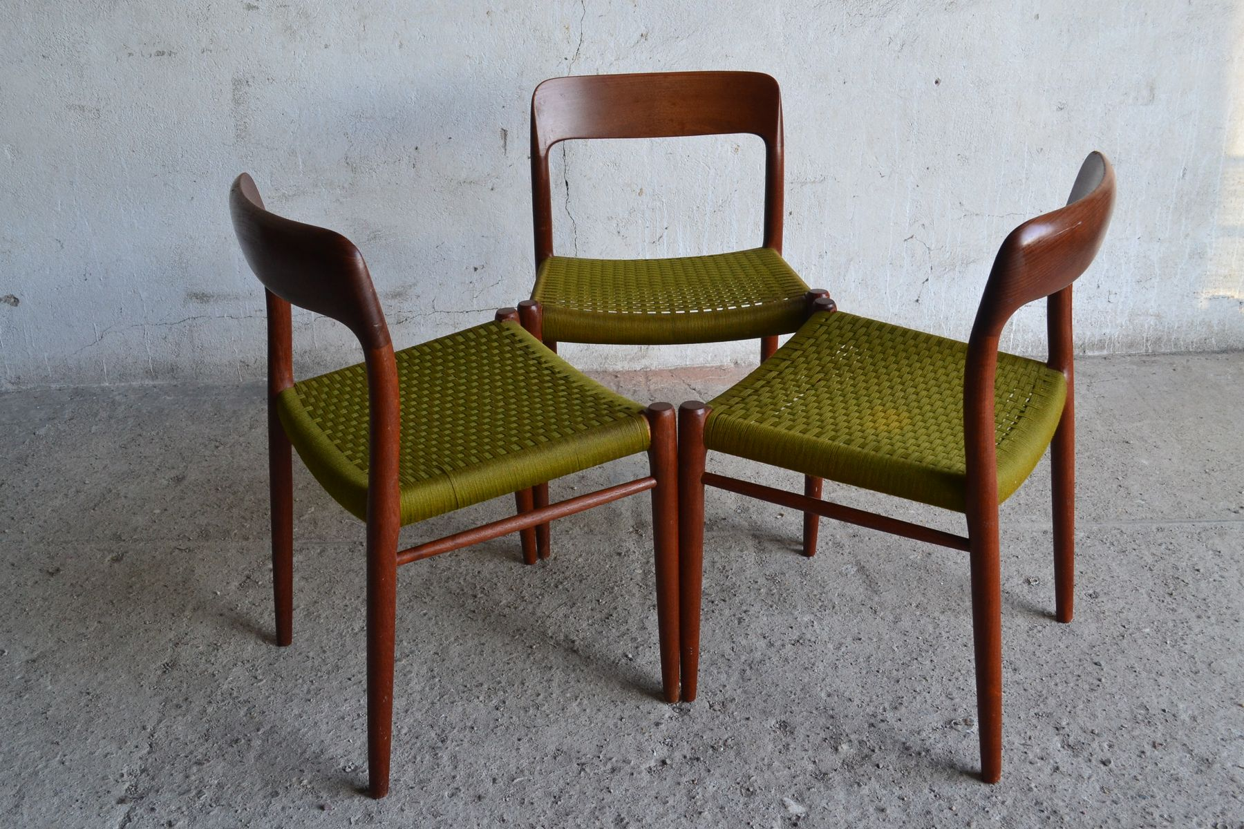 Danish Chairs by Niels Otto M¸ller for J L M¸llers 1960s Set
