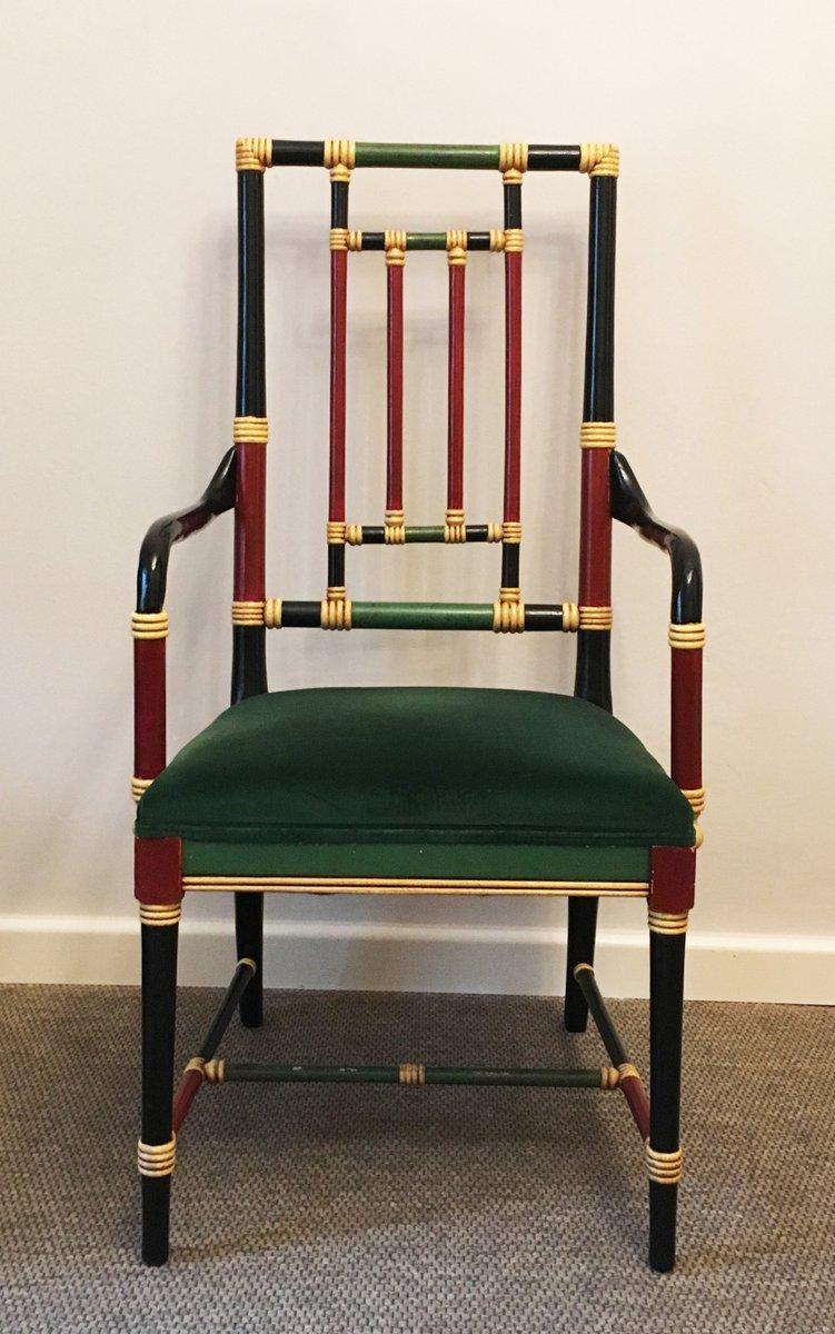 fauteuil en faux bambou italie 1970s en vente sur pamono. Black Bedroom Furniture Sets. Home Design Ideas