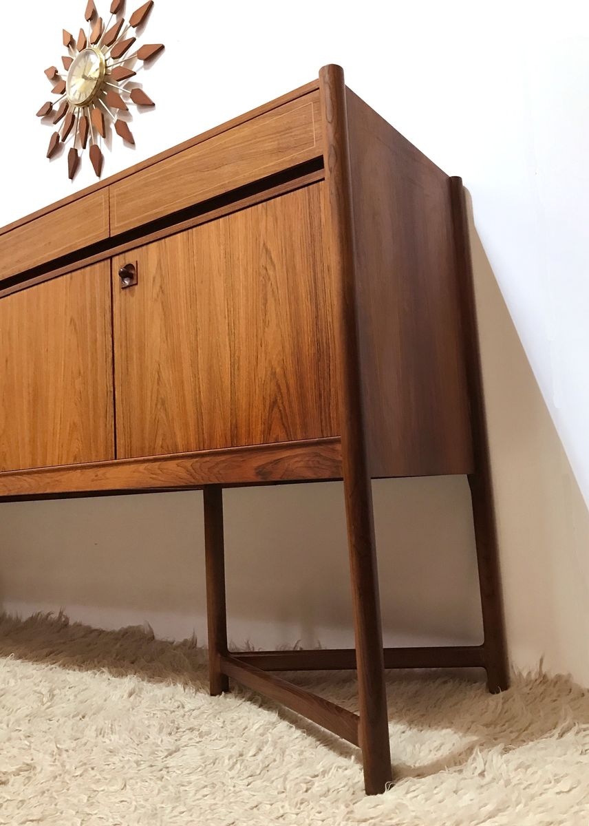 gro es mid century sideboard aus palisander birke. Black Bedroom Furniture Sets. Home Design Ideas