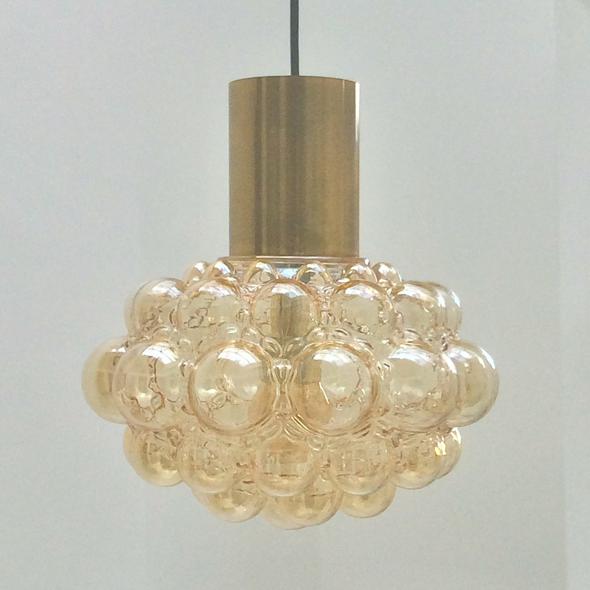 Vintage Bubble Light with Brass by Helena Tynell for Limburg for ...