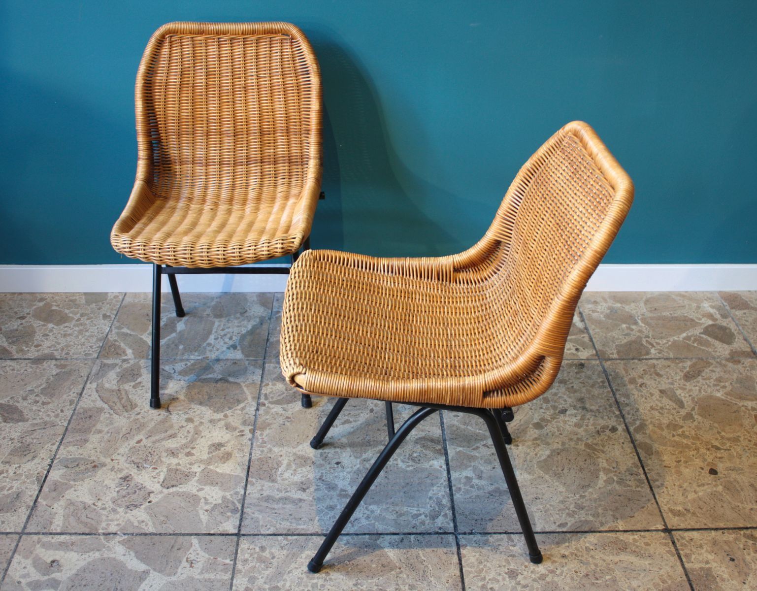 vintage rattan chairs from roh noorwolde set of 2 for sale at pamono. Black Bedroom Furniture Sets. Home Design Ideas