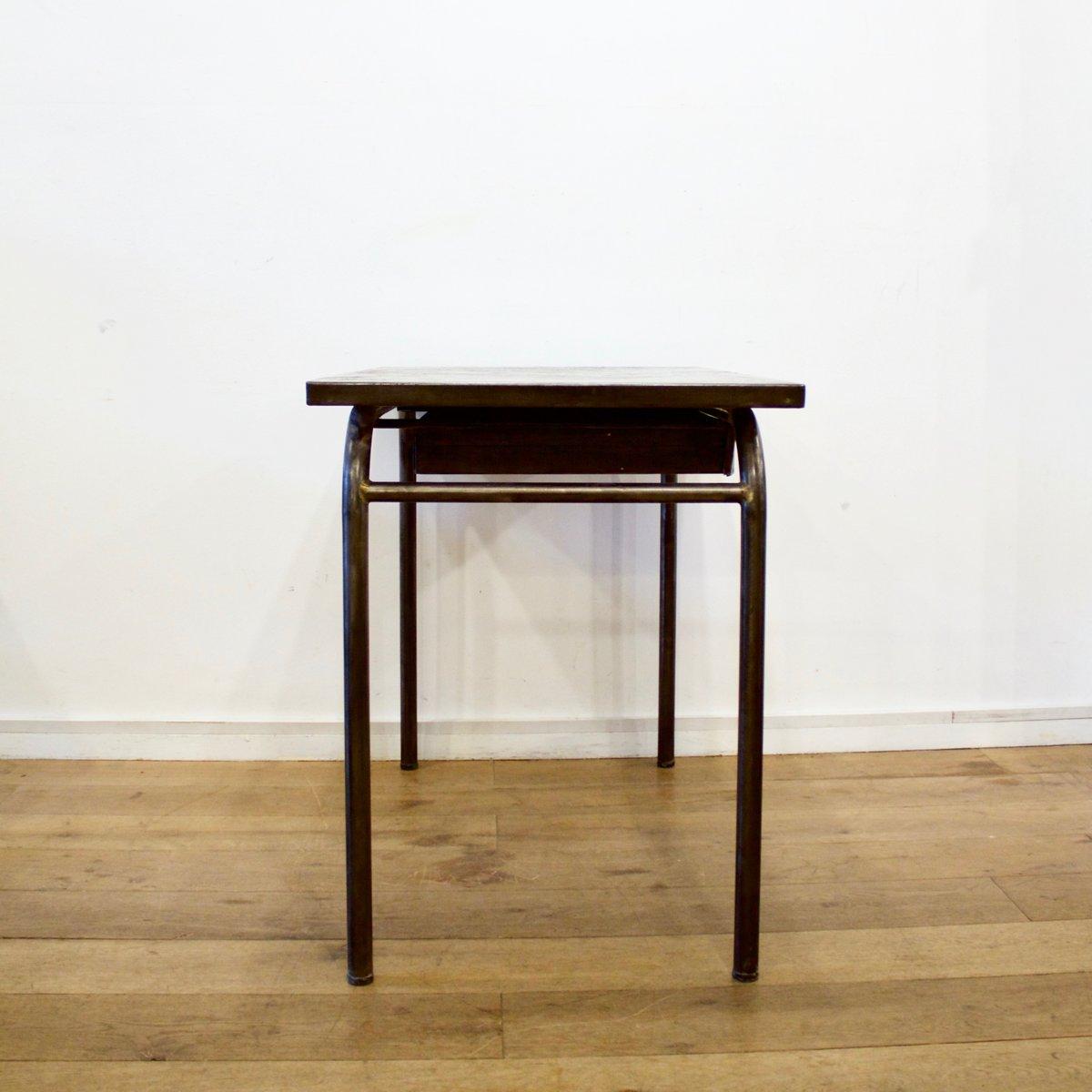 industrieller schreibtisch aus geb rstetem metall 1940er. Black Bedroom Furniture Sets. Home Design Ideas