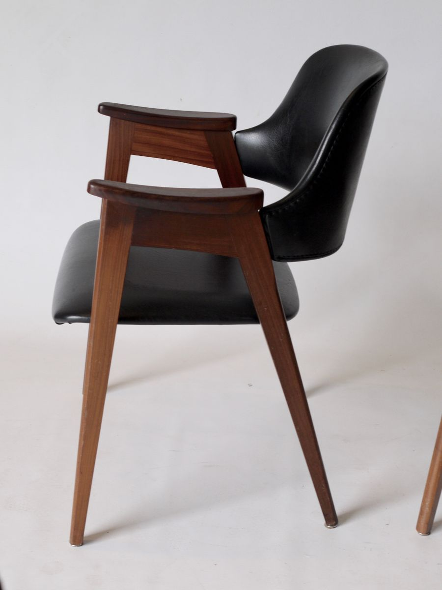 Vintage dutch carver chairs 1960s set of 4 for sale at for Dutch design chair uk