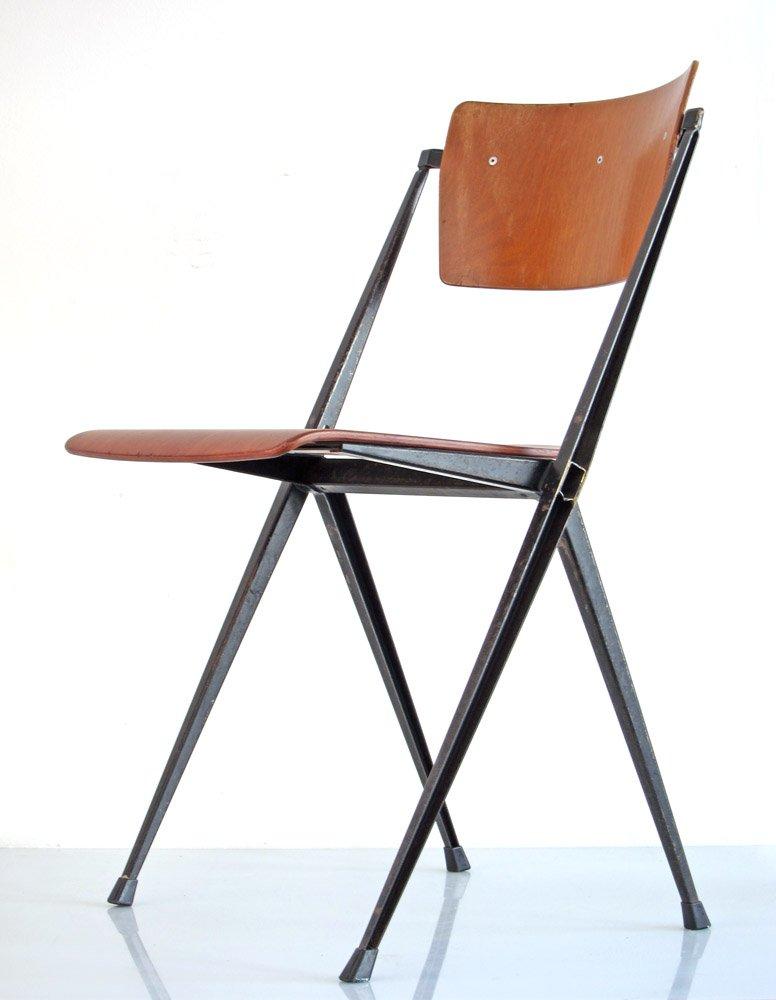 vintage pyramid stuhl von wim rietveld f r ahrend cirkel. Black Bedroom Furniture Sets. Home Design Ideas