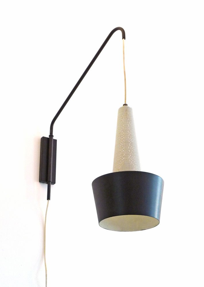 Adjustable Height Wall Lamps : Vintage Height-Adjustable Wall Lamp by Louis Kalff for Philips, 1950s for sale at Pamono