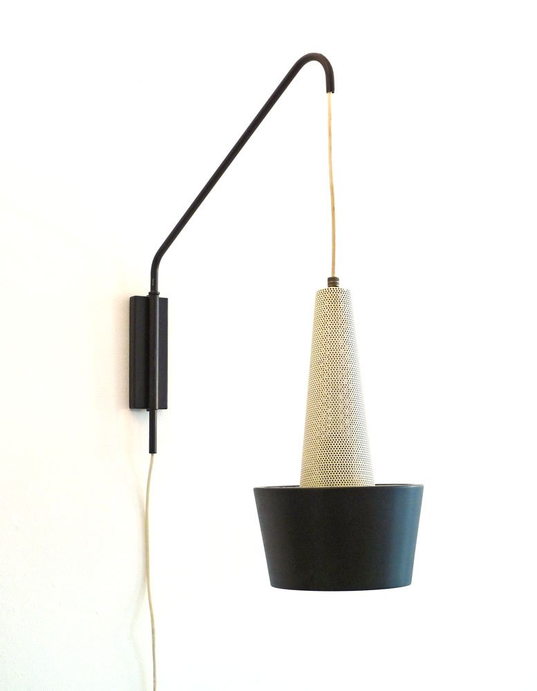 Height Of Wall Lamps : Vintage Height-Adjustable Wall Lamp by Louis Kalff for Philips, 1950s for sale at Pamono