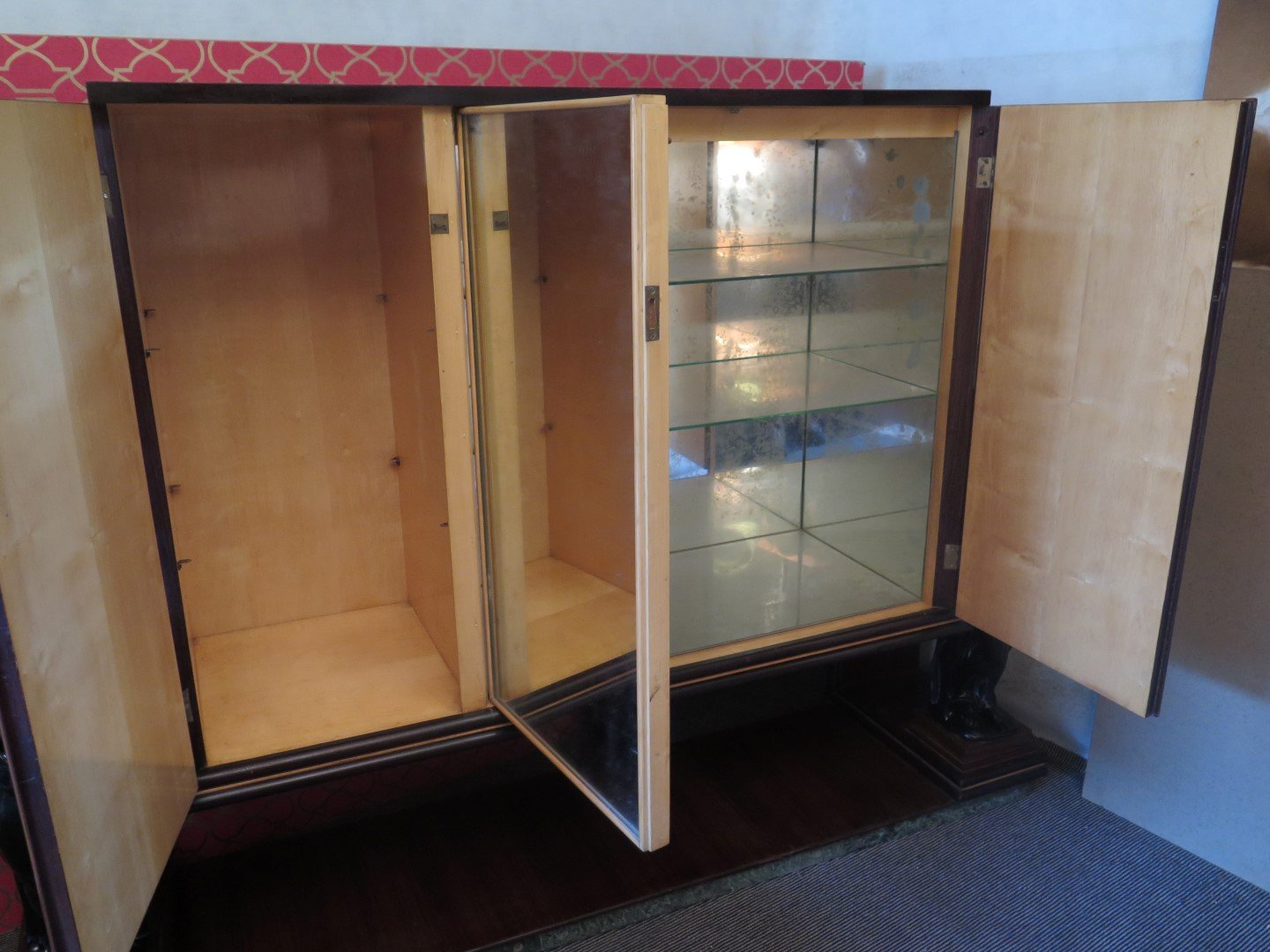 Italian bar cabinet in rosewood veneer 1940s for sale at for 1940s kitchen cabinets for sale