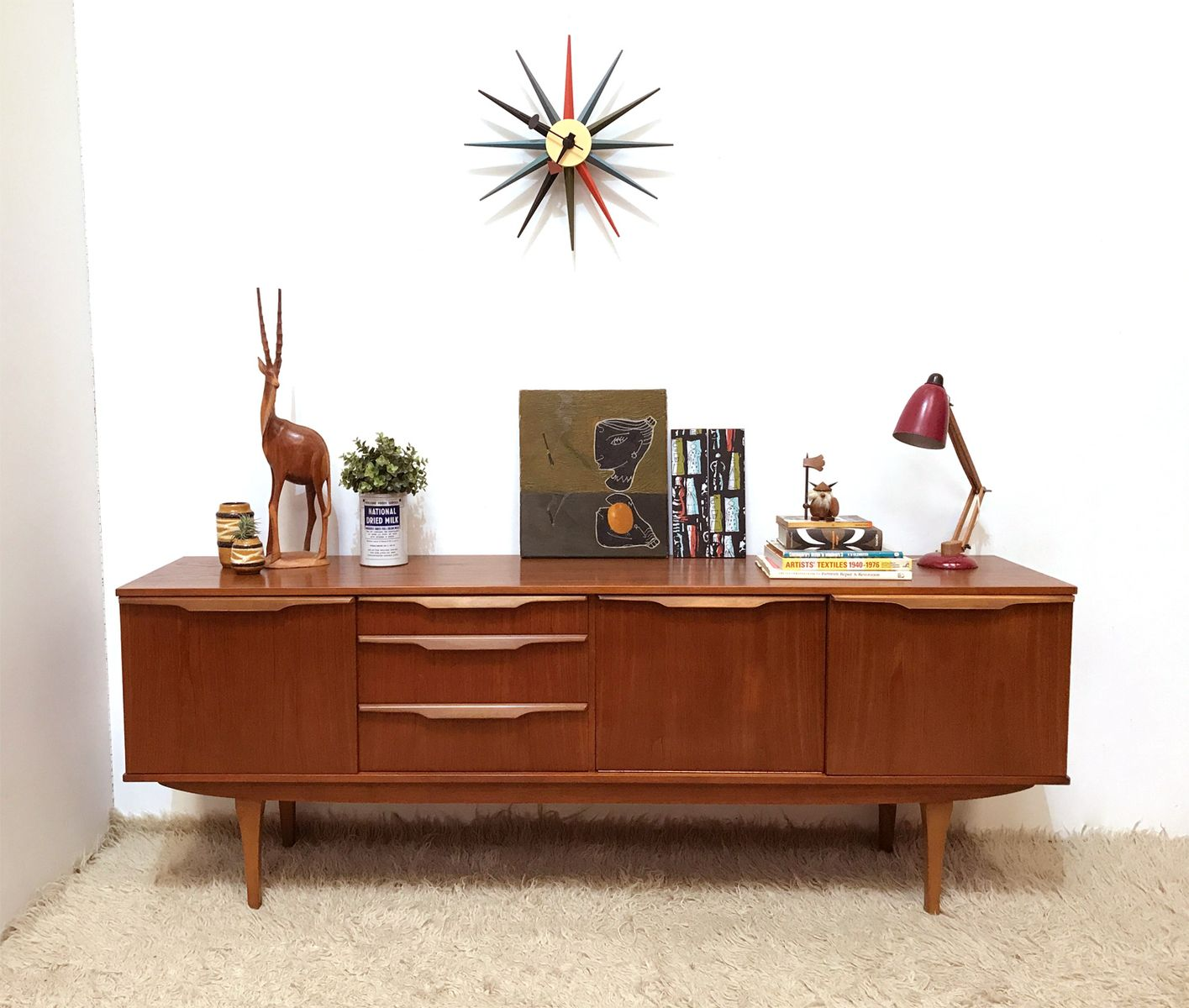 Mid century teak sideboard from stonehill 1960s for sale for Sideboard 1m breit
