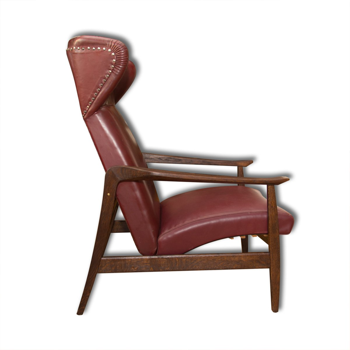 Wingback Chair European Leather Adjustable Wingback Chair 1940s For Sale At Pamono