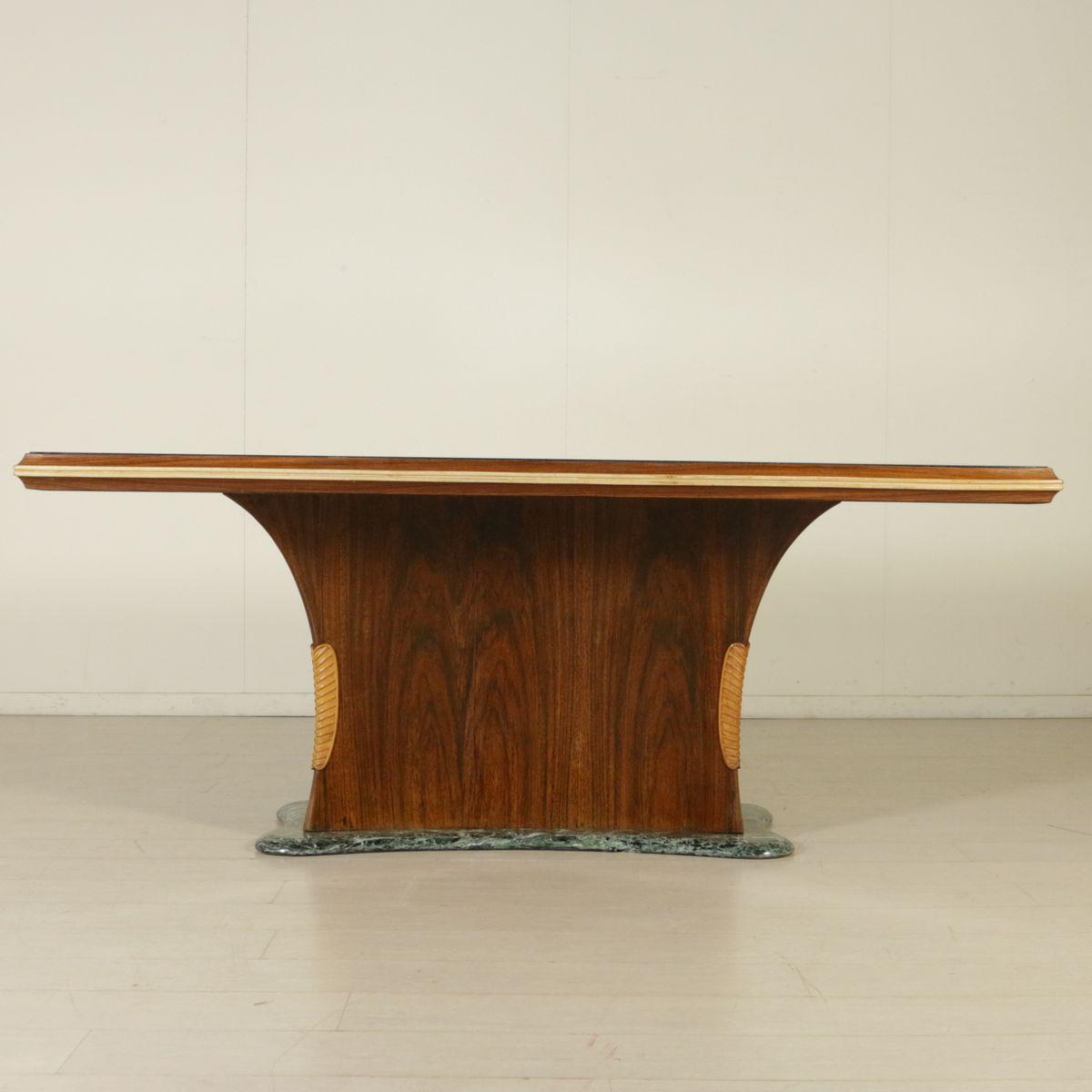 Tisch aus palisander furnier glas und marmor von dassi for Palisander tisch