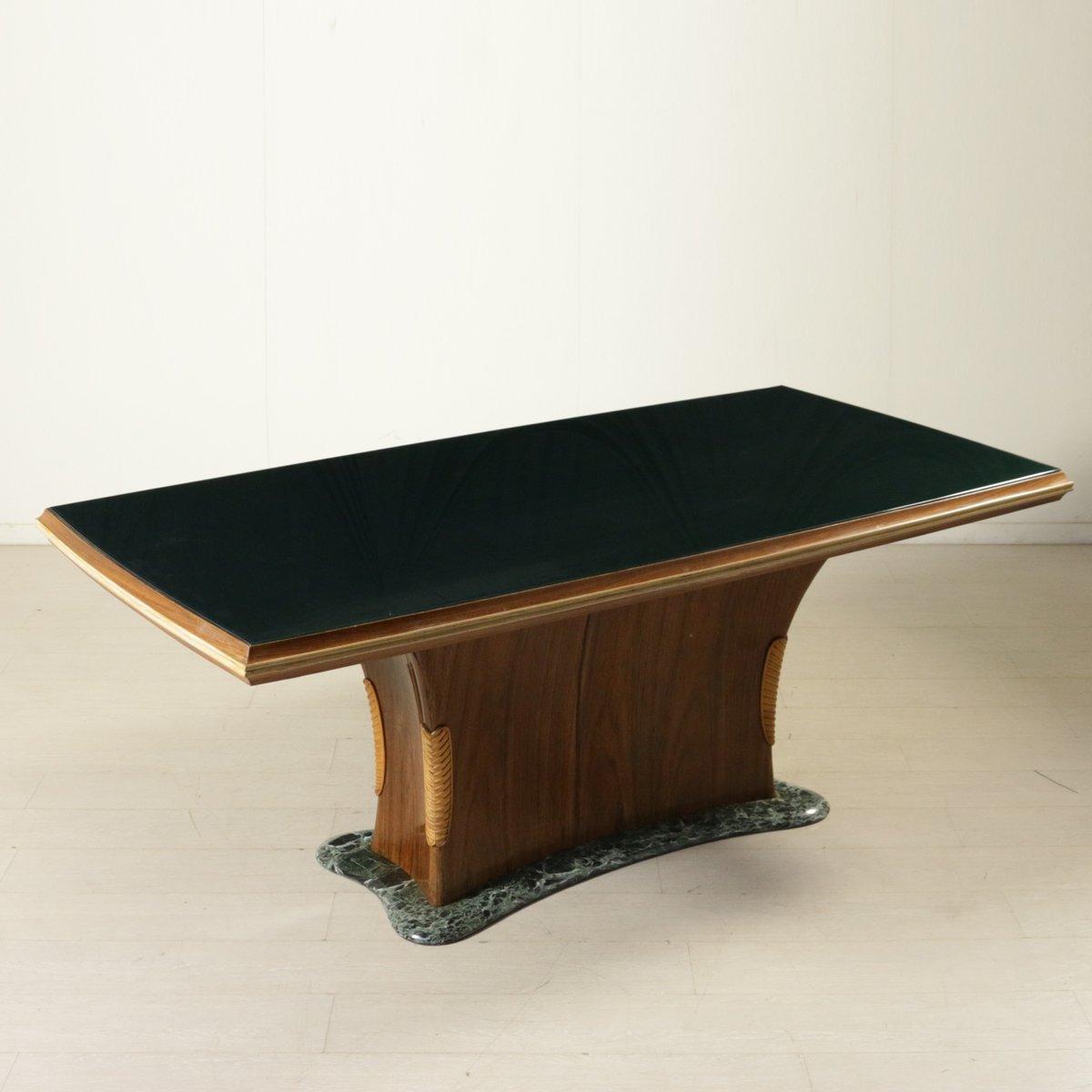 Tisch aus palisander furnier glas und marmor von dassi for Tisch aus marmor