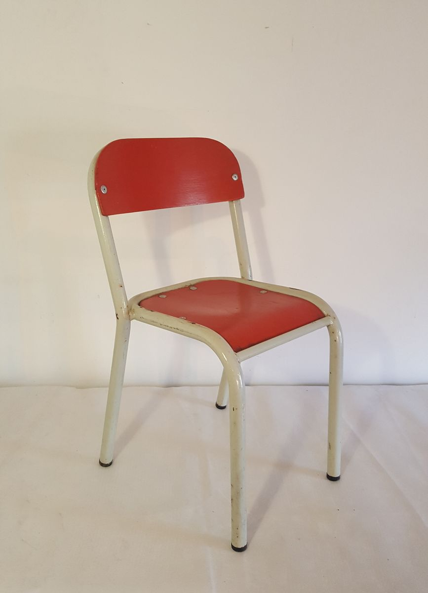 Vintage children 39 s chair in red white for sale at pamono for White kids chair