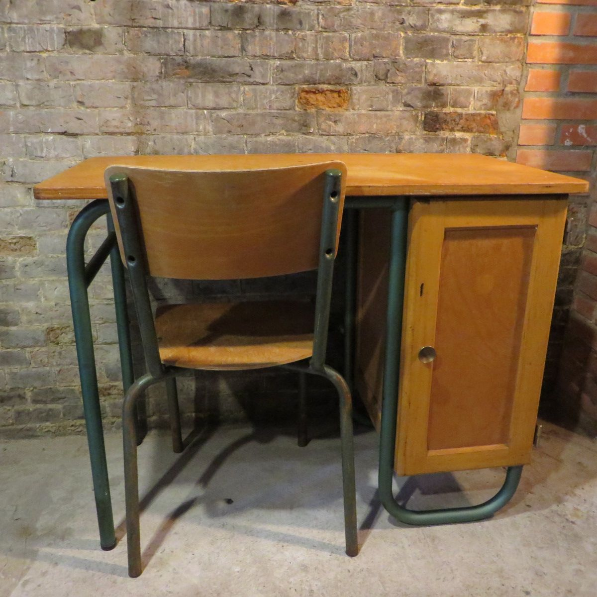 French School Desk with Chair 1960s for sale at Pamono