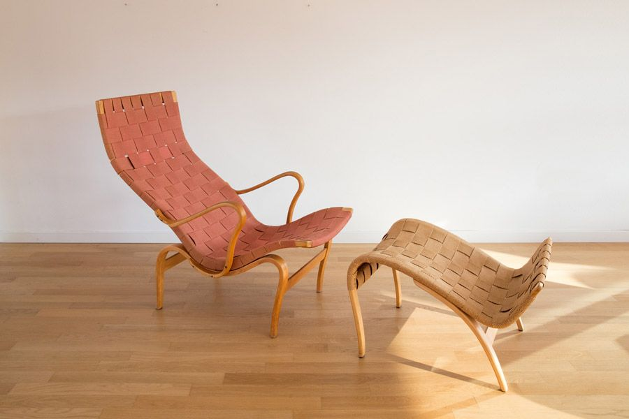 Vintage Pernilla Easy Chair and Footstool from Bruno Mathsson & Vintage Pernilla Easy Chair and Footstool from Bruno Mathsson for ... islam-shia.org