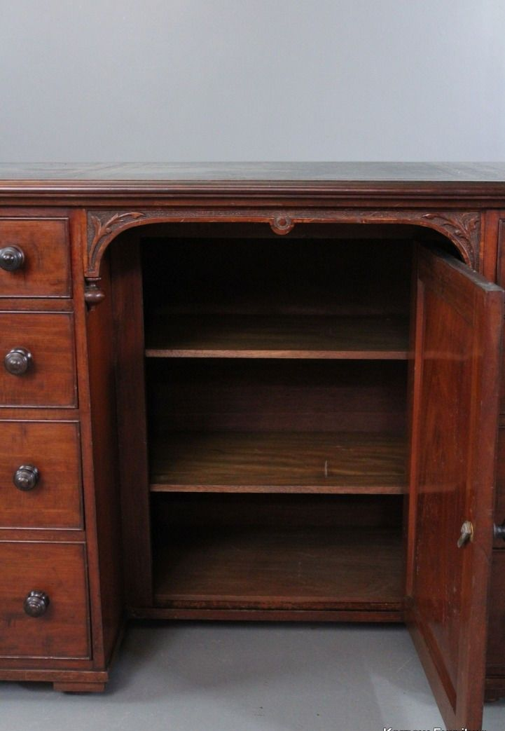 Bureau antique en acajou en vente sur pamono for Bureau acajou