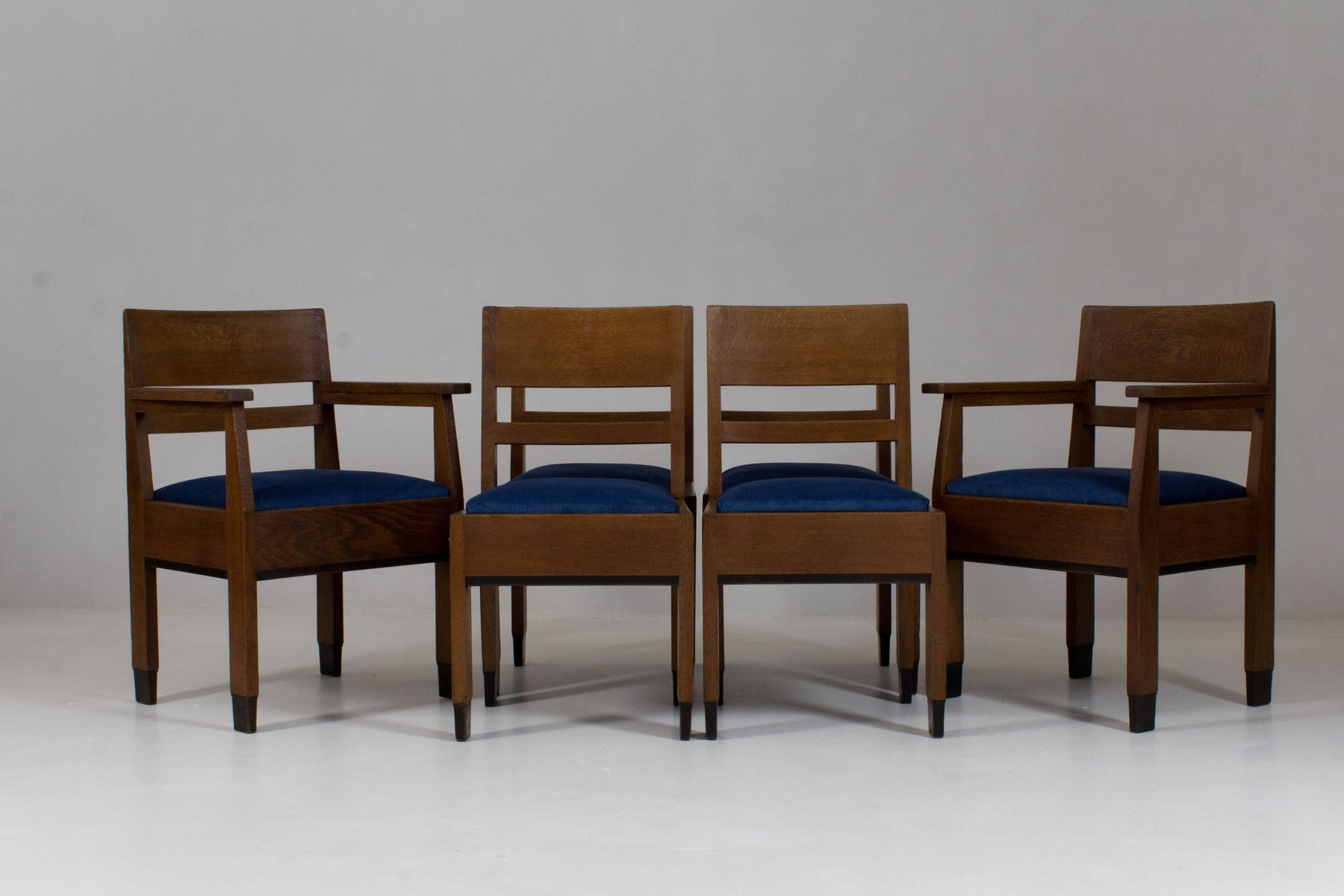 Art Deco Hague School Chairs by H Fels for L O V Oosterbeek