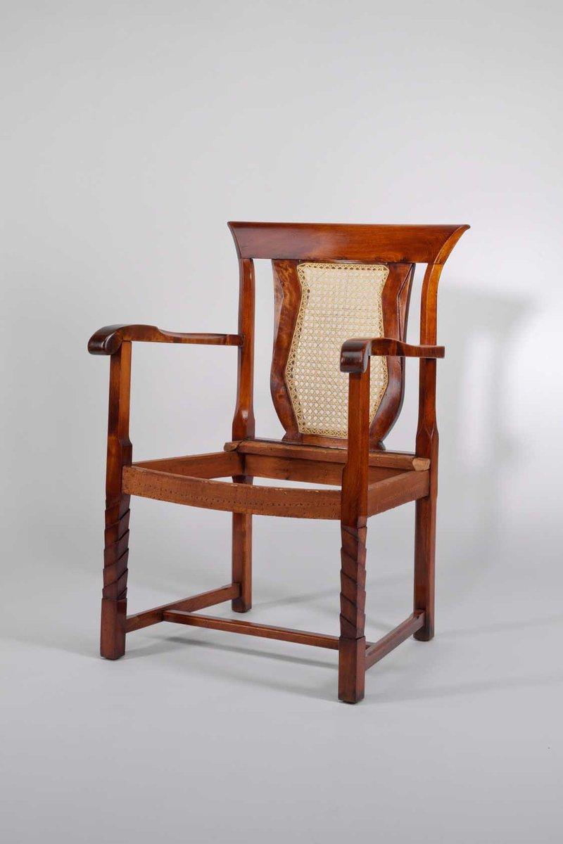 tschechischer art deco eichenholz armlehnstuhl bei pamono. Black Bedroom Furniture Sets. Home Design Ideas