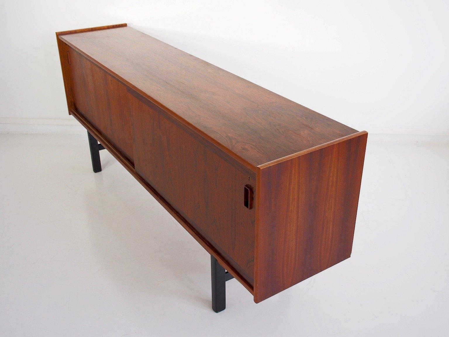 palisander sideboard mit schiebet ren einlegeb den und. Black Bedroom Furniture Sets. Home Design Ideas