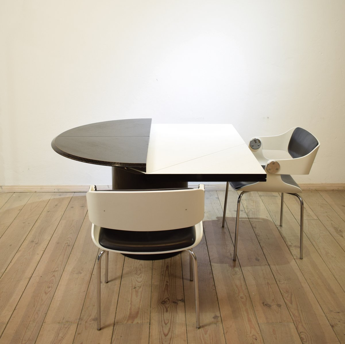 quadrondo round dining table by erwin nagel for rosenthal 1980s for