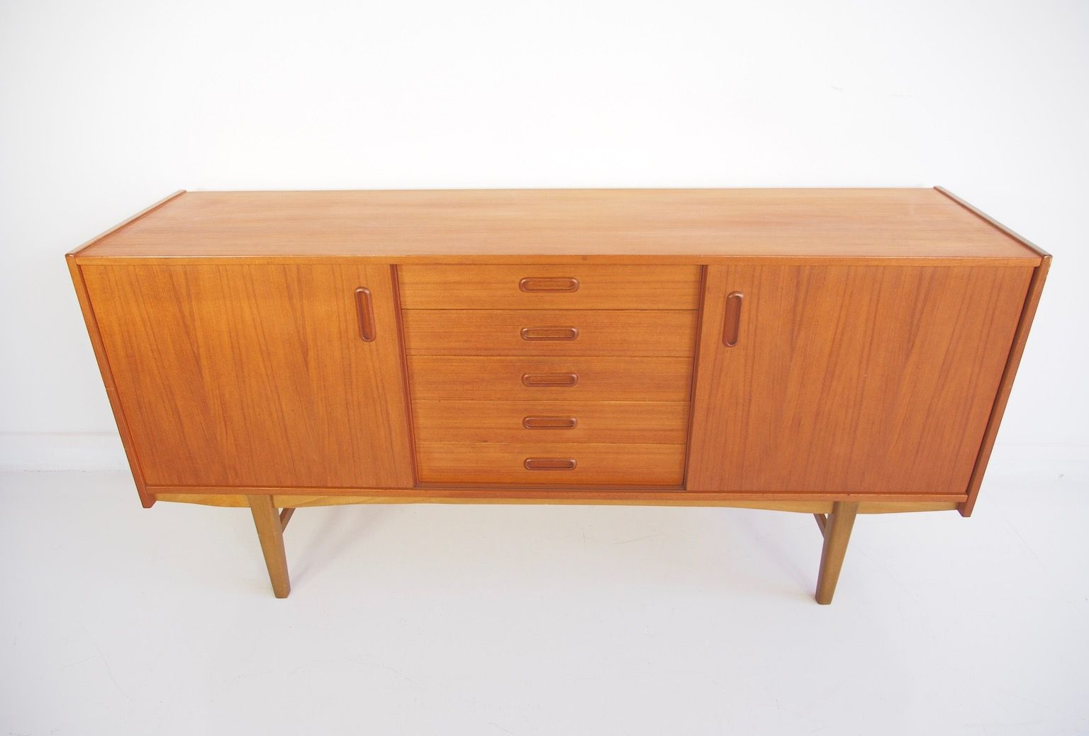 Price per piece - Scandinavian Modern Teak Sideboard With Shelves And Drawers, 1960s