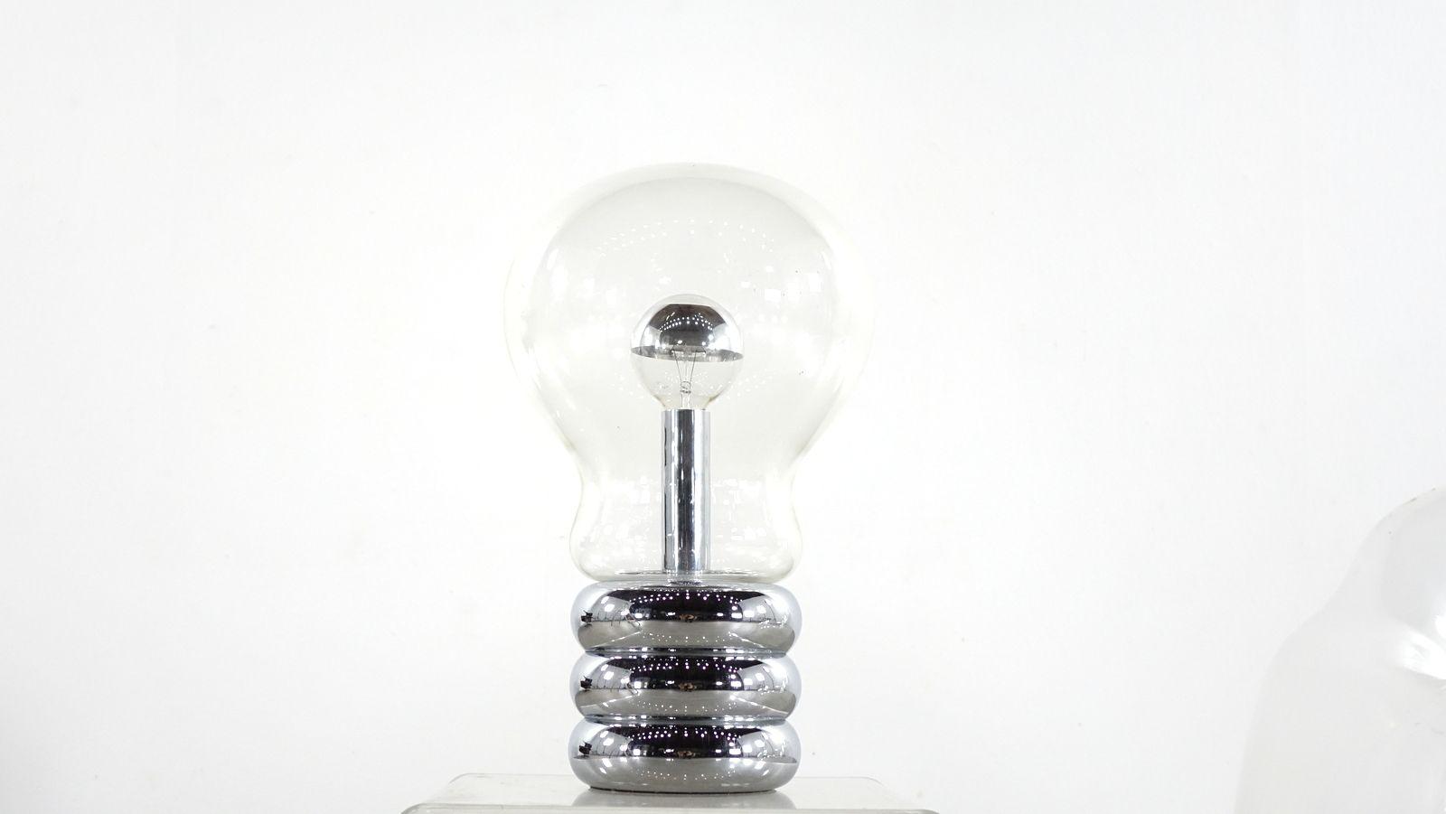 grande lampe bulb bulb par ingo maurer 1968 en vente sur pamono. Black Bedroom Furniture Sets. Home Design Ideas