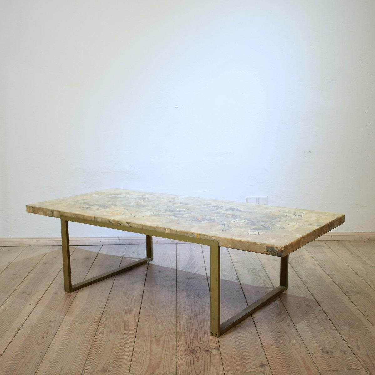 mid century mosaik marmor couchtisch 1970er bei pamono. Black Bedroom Furniture Sets. Home Design Ideas
