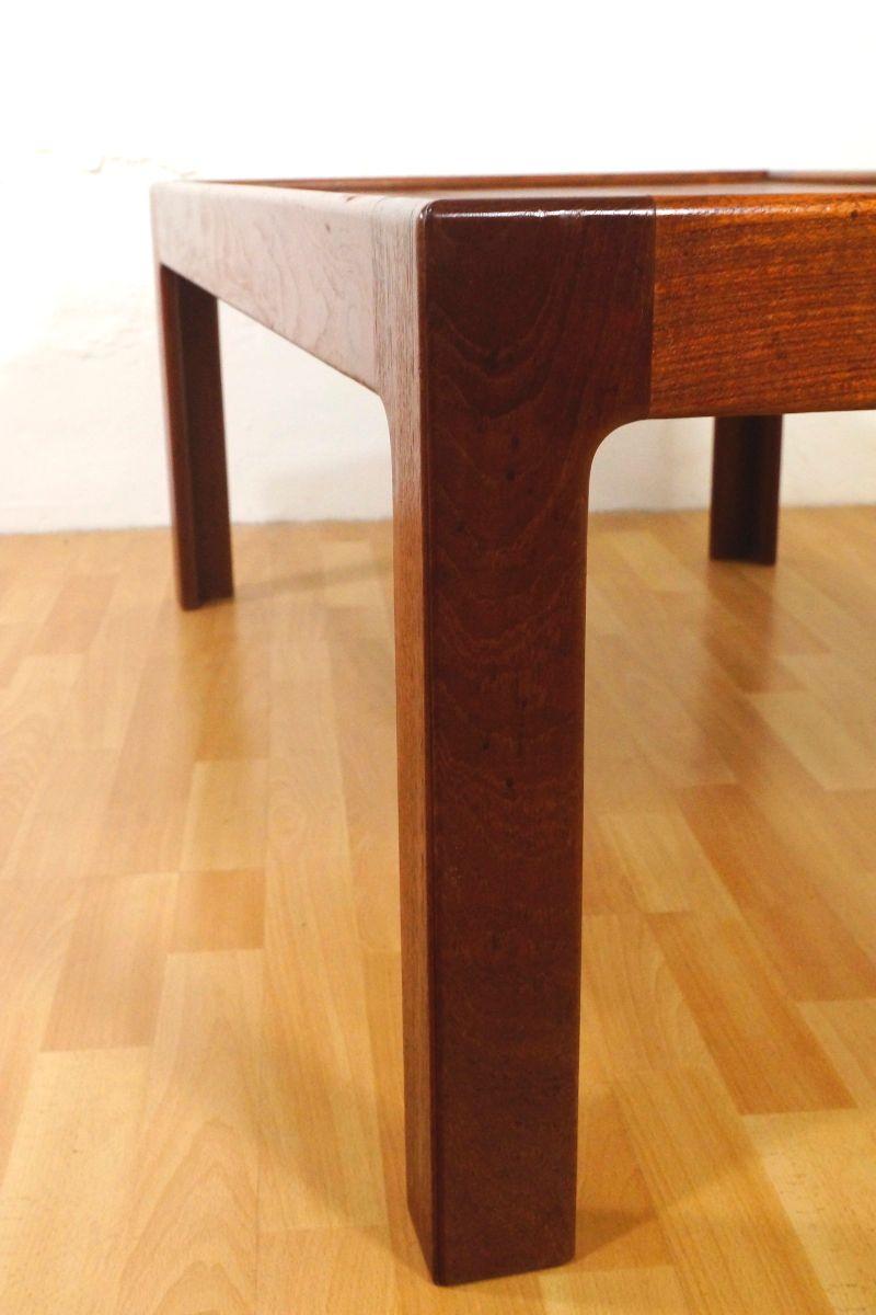 Tavolino da caff in teak e vetro di illum wikkels per for Tavolino anni 60 design