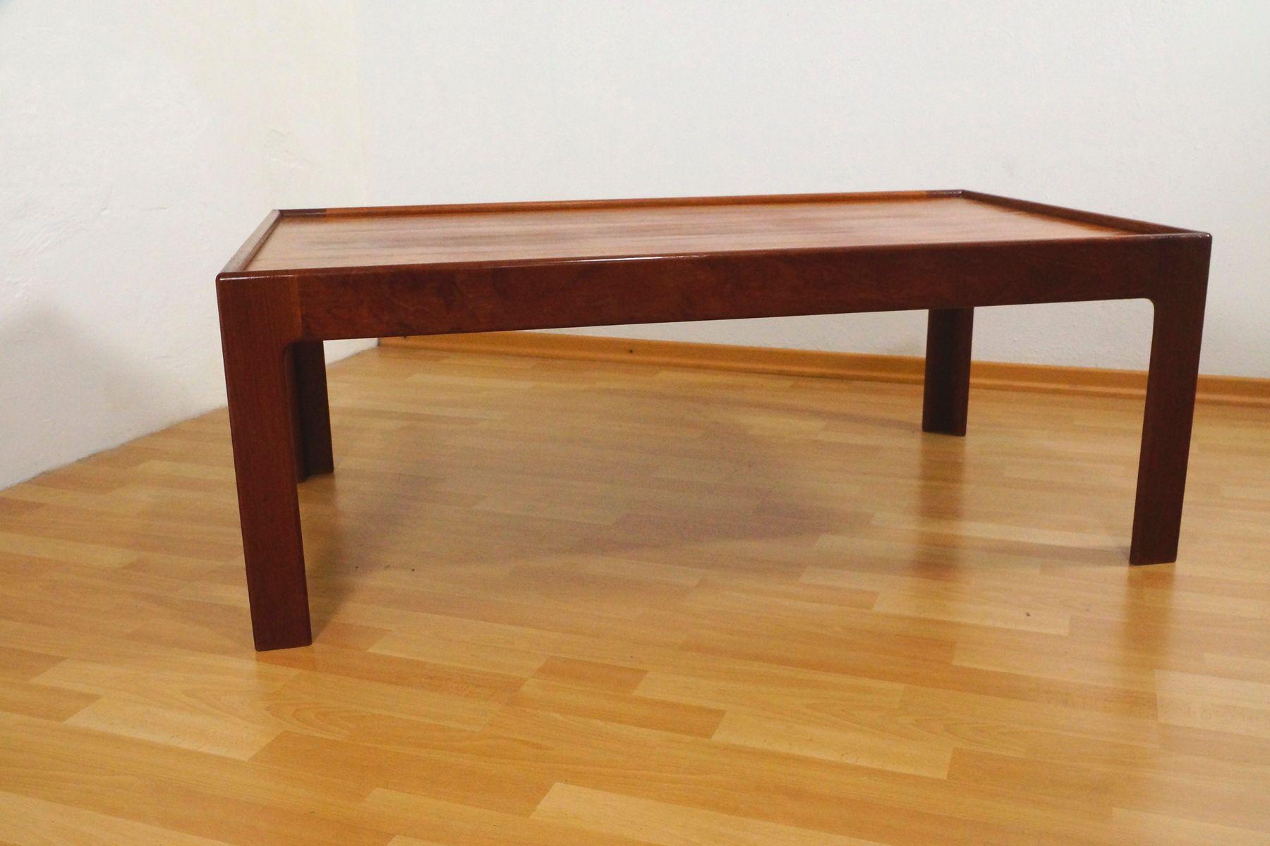 teak couchtisch mit glasplatte von illum wikkels f r eilersen 1960er bei pamono kaufen. Black Bedroom Furniture Sets. Home Design Ideas