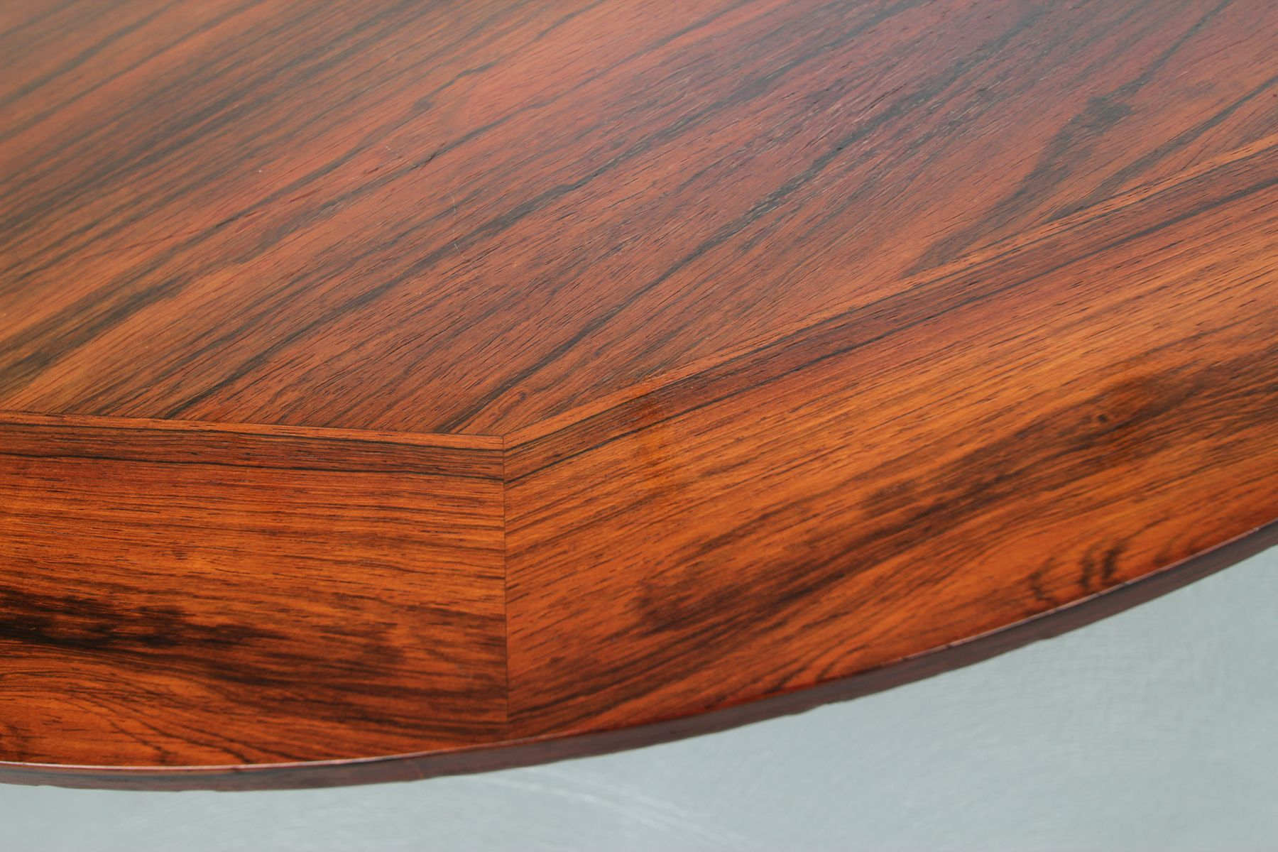 Tulip Rosewood Height Adjustable Dining Table 1970s For