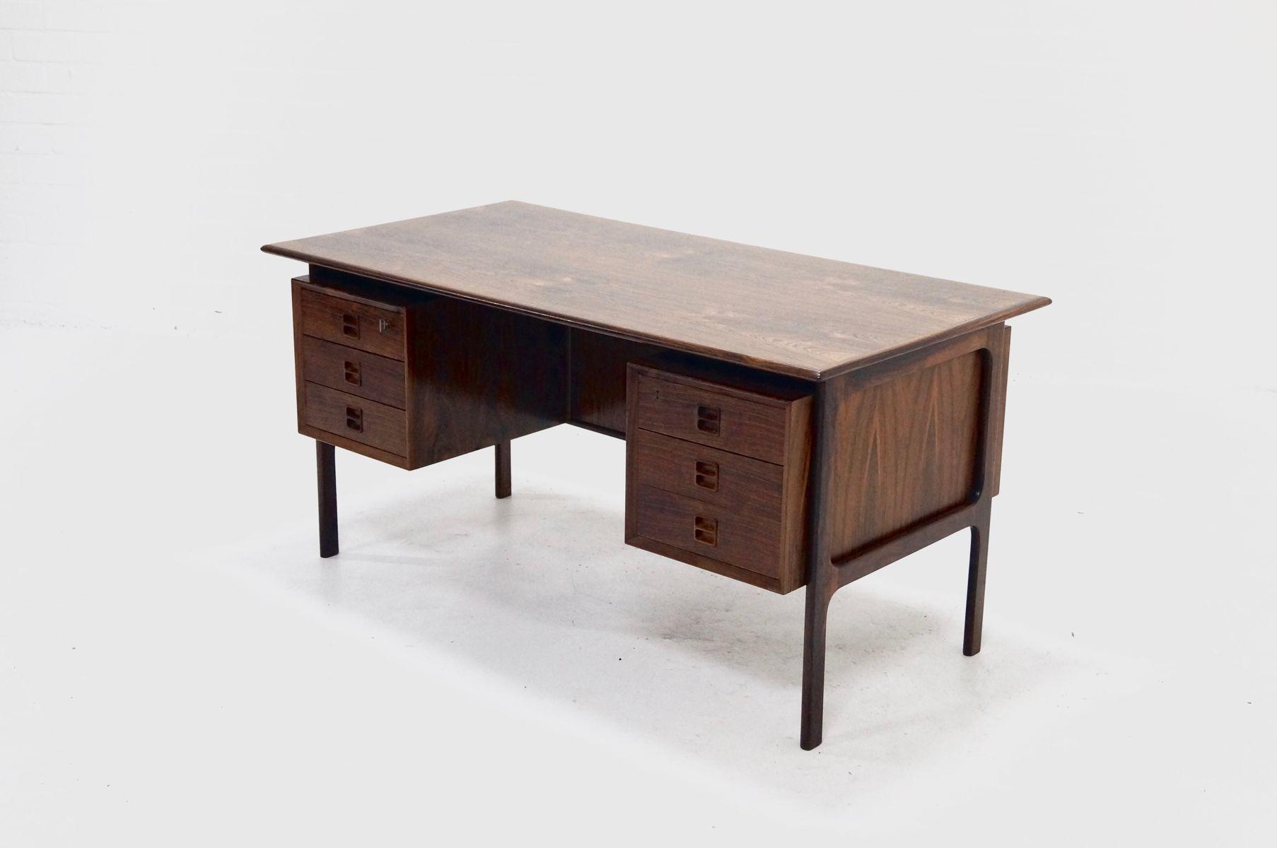 d nischer mid century palisander schreibtisch von arne. Black Bedroom Furniture Sets. Home Design Ideas