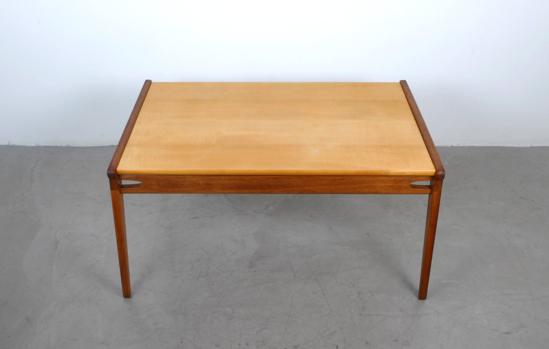 German Solid Oak Maple Coffee Table 1950s For Sale At Pamono