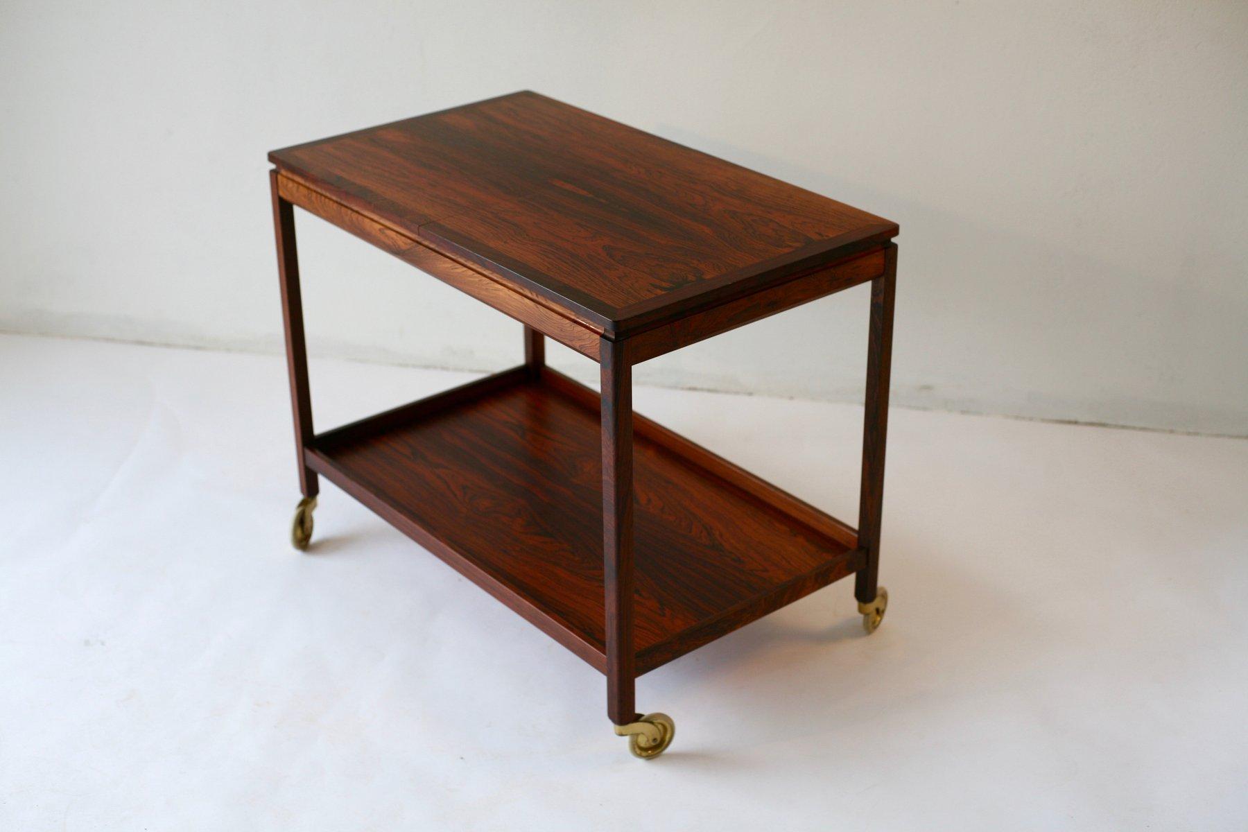 chariot bar en jacaranda par kurt stervig pour jason m bler 1969 en vente sur pamono. Black Bedroom Furniture Sets. Home Design Ideas