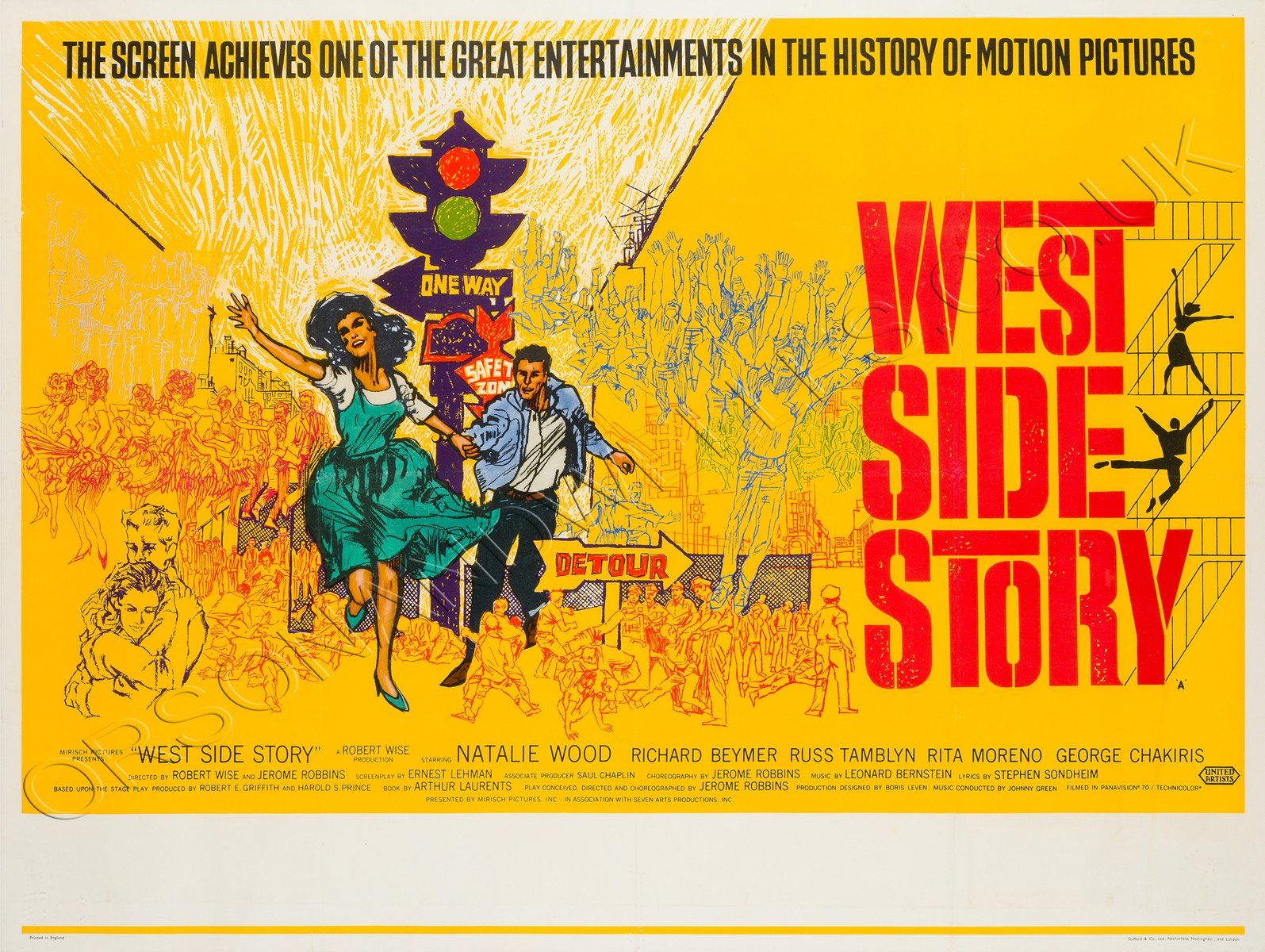 Vintage West Side Story Movie Poster, 1961 for sale at Pamono