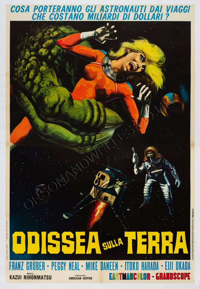 Italian x from outer space film poster 1969 for sale at for Outer space poster design