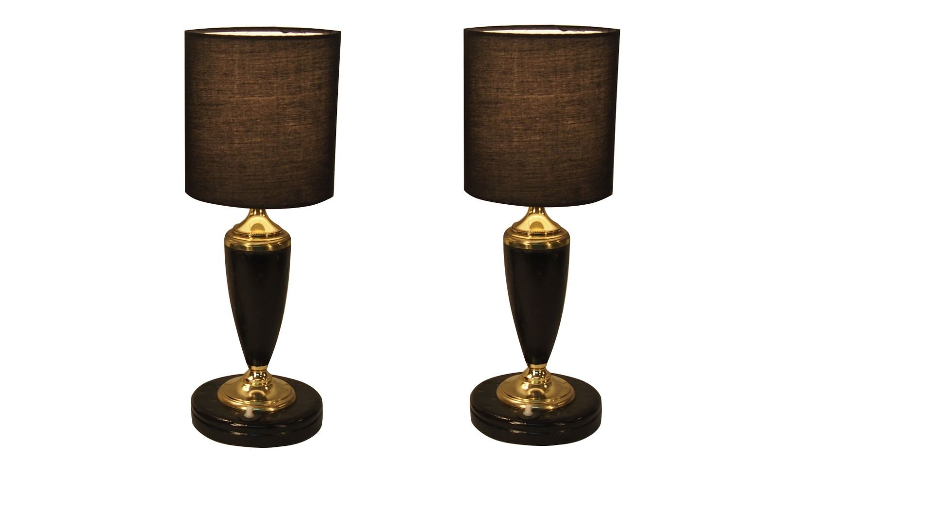 Art deco table lamps in black with gilt elements from le tanneur art deco table lamps in black with gilt elements from le tanneur set of 2 geotapseo Images