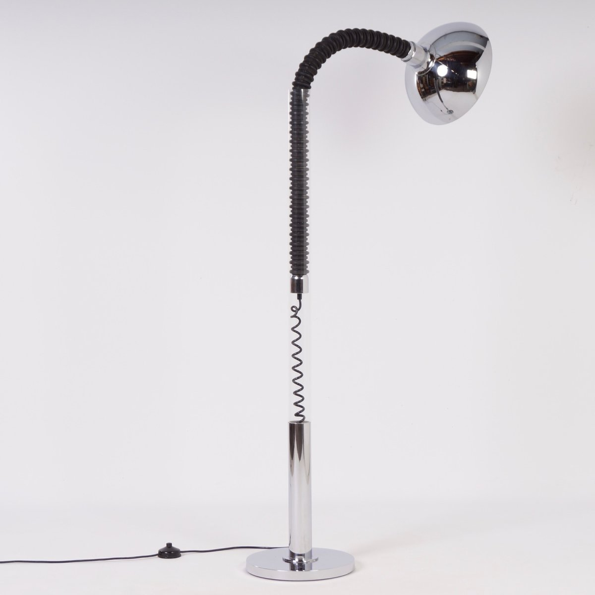 chrome floor lamp with flexible arm from cosack 1970s for sale at pamono. Black Bedroom Furniture Sets. Home Design Ideas