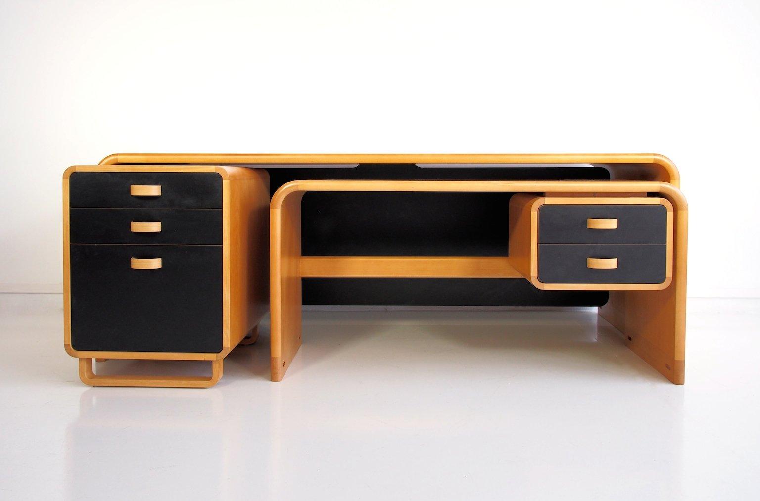 Vintage buchenholz schreibtisch von rud thygesen johnny for Schreibtisch aus buchenholz