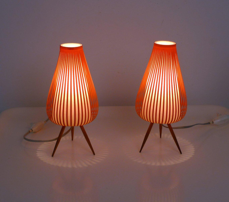 Lampes de chevet allemagne 1950s set de 2 en vente sur for Lampe de chevet anglais