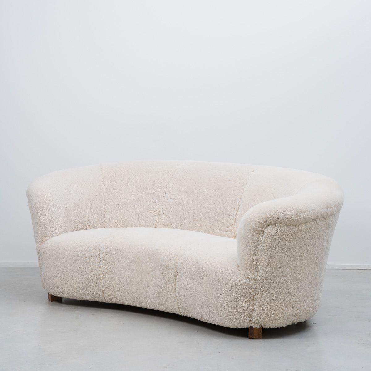 d nisches banana sofa von slagelse m belv rk 1940er bei pamono kaufen. Black Bedroom Furniture Sets. Home Design Ideas
