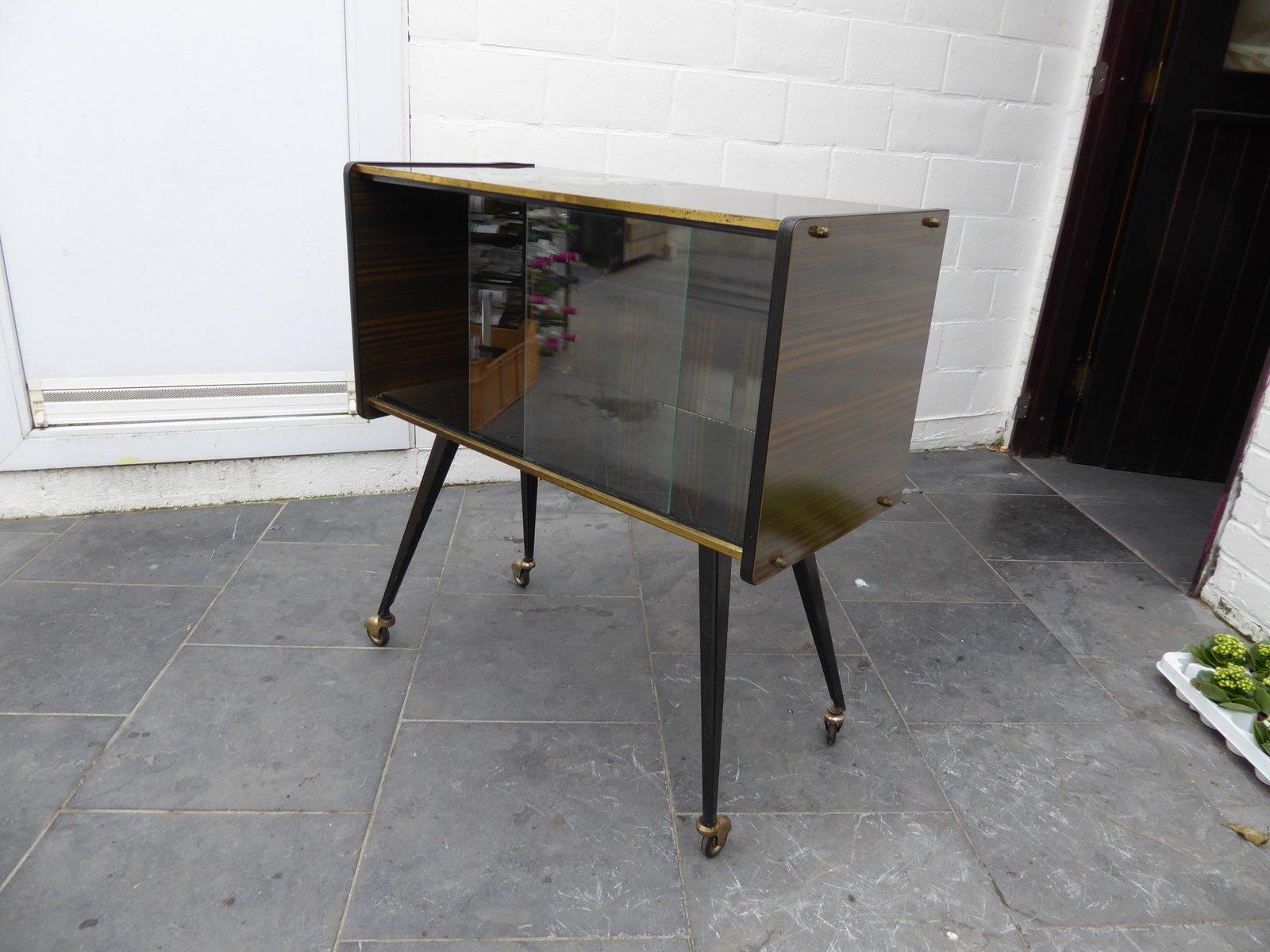 Mid century belgian formica cabinet vitrine 1950s for for Sideboard vitrine