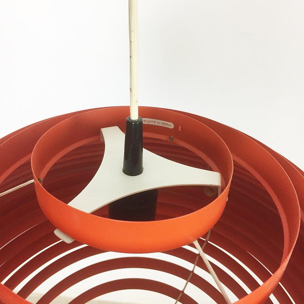 gro e rote sterreichische h ngelampe von vest 1960er bei. Black Bedroom Furniture Sets. Home Design Ideas