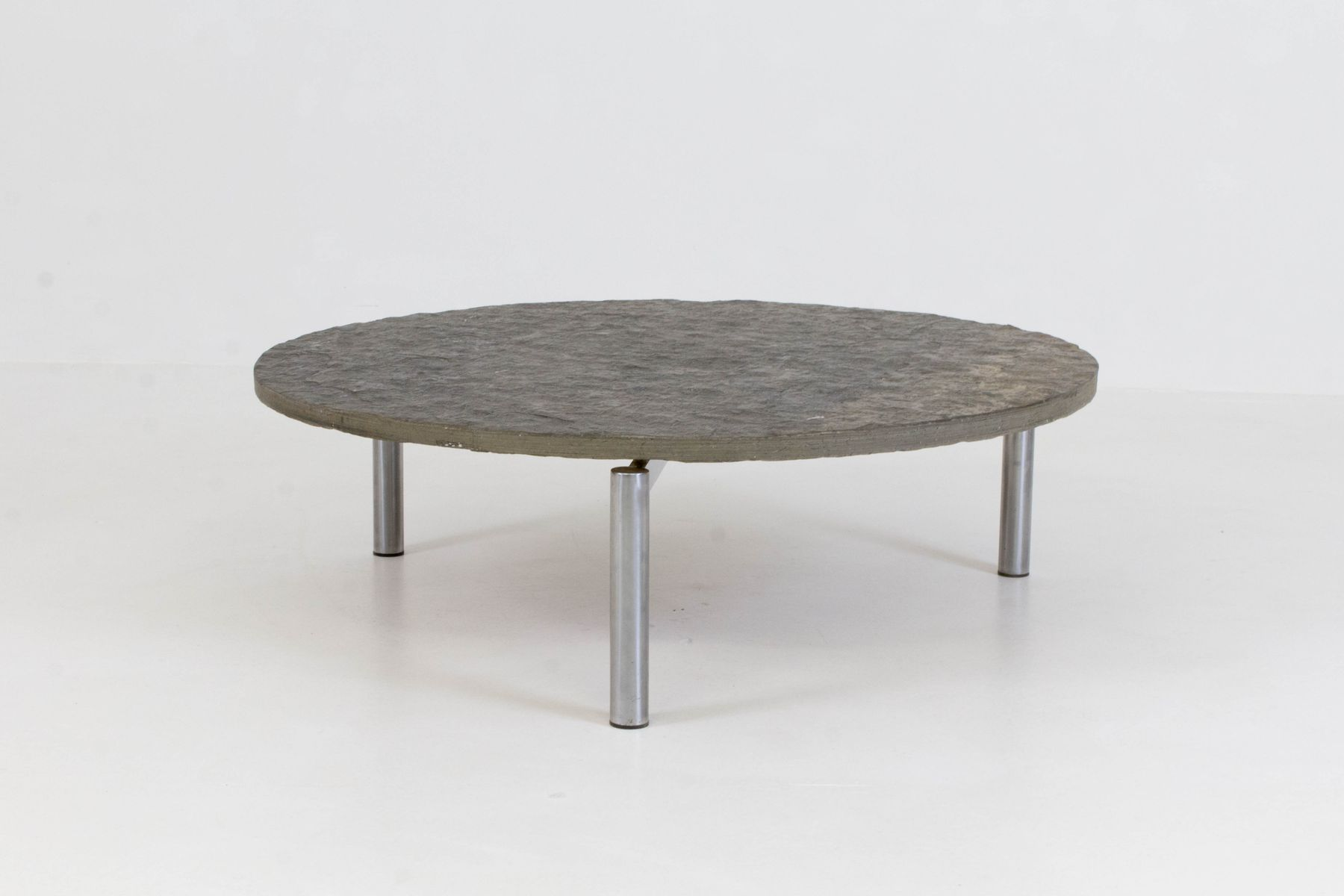 Brutalist Mid Century Slate Top Coffee Table 1970s for sale at Pamono