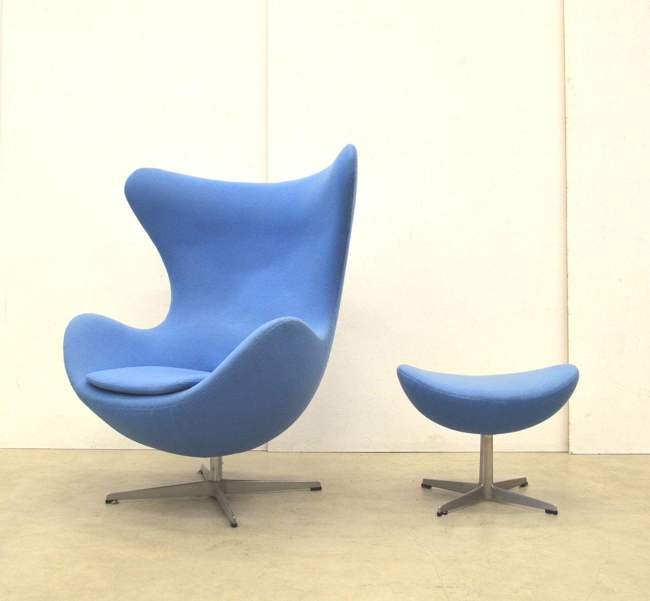 egg chair ottoman by arne jacobsen for fritz hansen. Black Bedroom Furniture Sets. Home Design Ideas