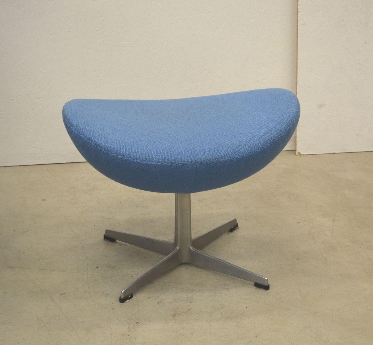 egg chair ottoman von arne jacobsen f r fritz hansen 1979 bei pamono kaufen. Black Bedroom Furniture Sets. Home Design Ideas