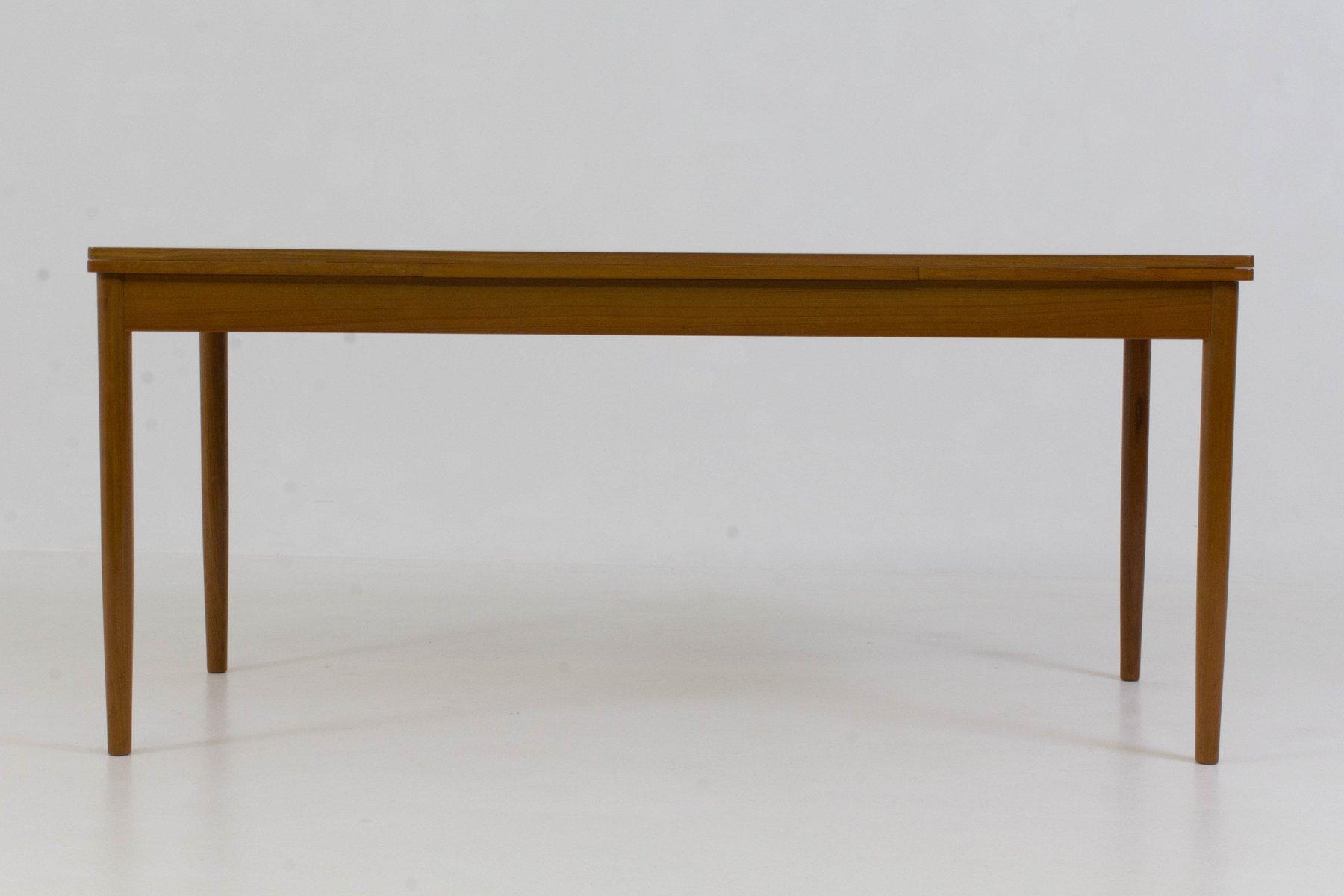 Grande table de salle manger extensible danemark 1960s for Salle a manger annee 1960