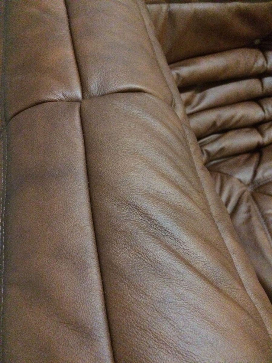 Mobilier de salon togo vintage en cuir par michel ducaroy pour ligne roset en - Mobilier vente en ligne ...