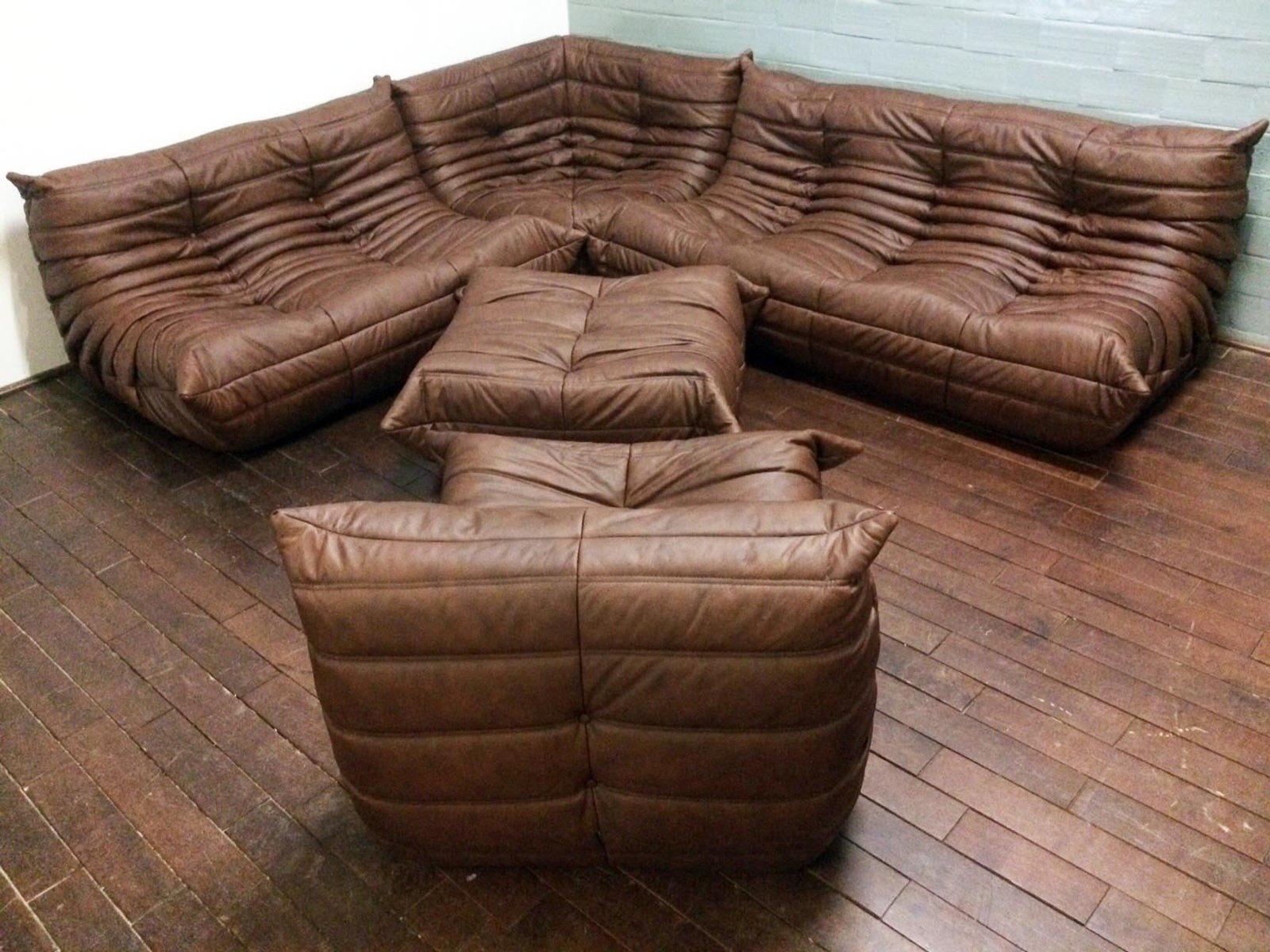 Mobilier de salon togo vintage en cuir par michel ducaroy pour ligne roset en - Togo ligne roset prix ...