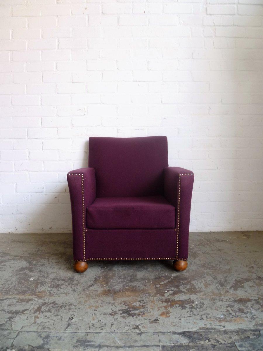 vintage sessel in lila bei pamono kaufen. Black Bedroom Furniture Sets. Home Design Ideas
