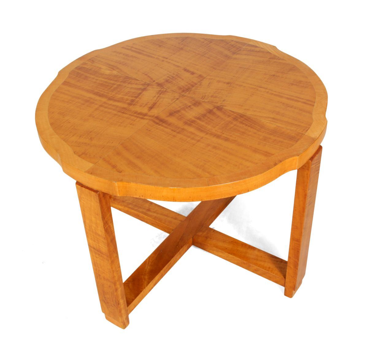 Art Deco Nest Of Tables In Satin Birch 1930s For Sale At