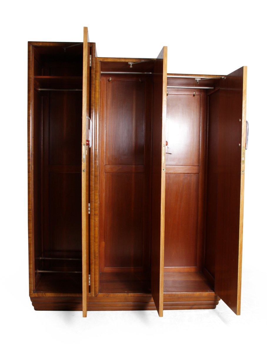 Art Deco Wardrobe In Karelian Birch, 1930s For Sale At Pamono